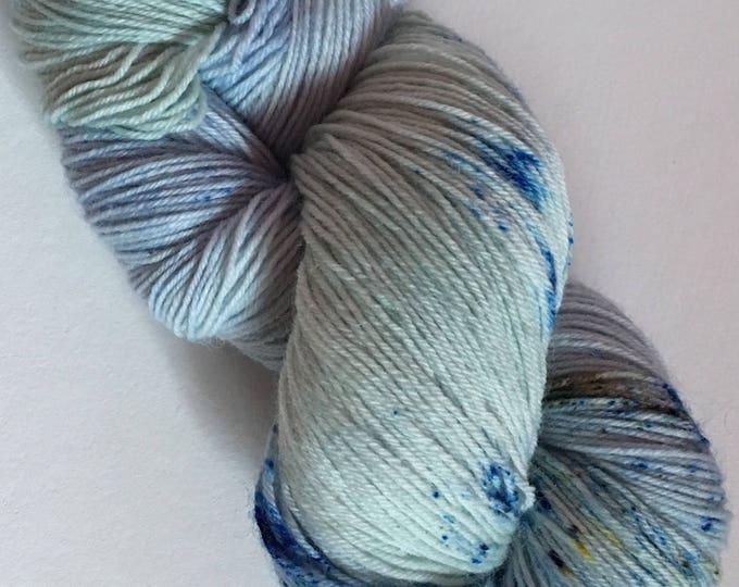 Bottom Merino Superwash wool and Nylon Fingering hand dyed