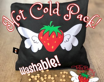 Gift for Her, Cherry Pit Pillow Flyberry, Microwaveable Heating Pack, Back Pain Relief,  eck Pain, Unique Gift for Mom, Fruit Lover Gift