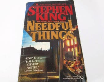 Needful Things by Stephen King  Paperback  Horror