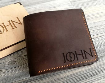 Groomsmen Gift Game of Thrones Gift Personalized Wallet Leather Mens Wallet Gift for Him Mens Leather Wallet Graduation Gift Boyfriend Gift