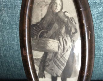 Unique Little Red Riding Hood Picture in Antique Frame