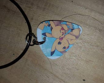 Pokemon guitar pick necklace