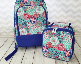 Monogrammed Girls Back Pack, Backpacks for Girl's,  Paisley Backpack, Back to School book bags, Book bag, Embroidered monogram back packs