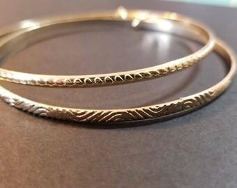 Gold Bangle Earrings