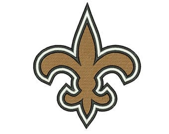 SALE**New Orleans Saints 9 Size Embroidery Designs College Football Logos Machine Embroidery Pattern