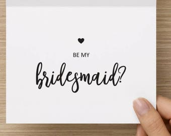 Will You Be My Bridesmaid Card - Bridal Party, Notecard, Bridesmaid Invitation