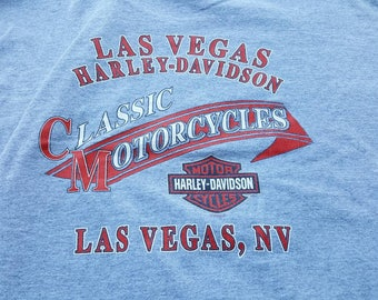 2003 Harley Davidson Motorcycle Shirt Size XL Las Vegas Nevada Pocket T Damaged