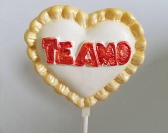 Te Amo Chocolate Lollipops, Te Amo Gifts