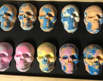 Bath bomb skull 5 pack skull bath bombs