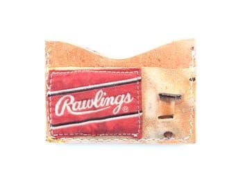 Three-Pocket Card Wallet - Baseball Glove Leather