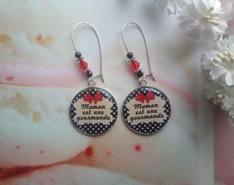 """MOM is a gourmet"" earrings / mothers day gift idea"