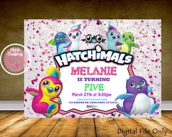 Hatchimal Invitation, HATCHIMAL, Hatchimal Party, Hatchimal Birthday Invitation, Digital