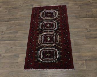 Gorgeous Unique Design Handmade Balouch Persian Rug Oriental Area Carpet 3X6