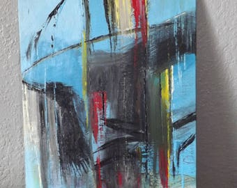 Abstract Acrylic on Canvas Panel