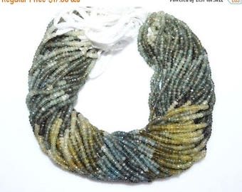 """50% OFF Shaded Moss Aquamarine Faceted Rondelle Beads , Moss Aquamarine Faceted Rondelle Beads , 3.75 mm ,13"""" - MC250E"""