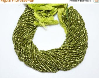 "50% OFF 1 Strand Mystic Chrome Green Pyrite Faceted Rondelle Beads , Mystic Chrome Green Pyrite Rondelle Beads , 3 - 3.75 mm , 13"" - MC988"