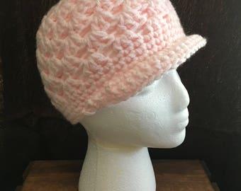 Chunky Rimmed Crocheted Beanie Winter Hat - Women's Beanie - Stocking Stuffers - Handmade Hat