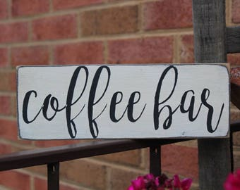 Coffee bar wood sign, coffee drinker, coffee bar, coffee lover, kitchen sign, coffee sign, farmhouse sign, Mom Cave, Mother's Day, Family