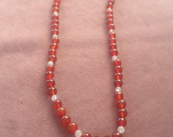 18inches 6mm agate beads necklace