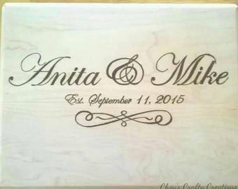Personalized Wood Burned Plaque