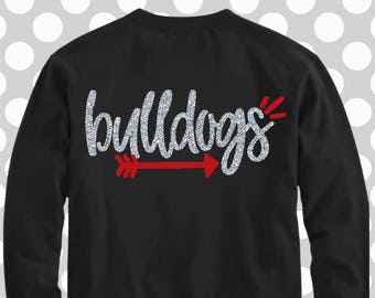 Bulldogs svg, SVG, DxF, EpS, Cut file, arrow svg, Bulldogs, shortsandlemons, SVG Sayings, football svg, football sister svg, football mom