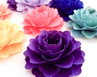 """3"""" Paper Flowers 25ct. (Custom Colors) 