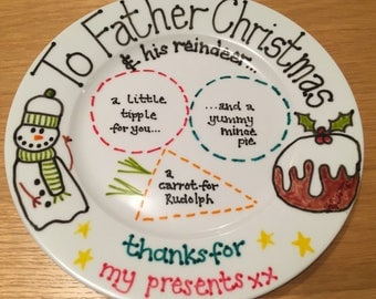 Christmas Plate.  Leave a mince pie for Father Christmas & reindeer.