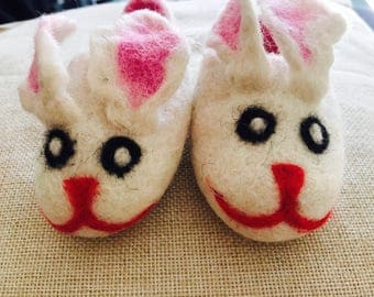 cosy bunny slippers .
