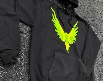 Kids size Green Yellow Maverick Bird Front/hood hoodie  Unisex  Team 10 Jake Paul JP hoodie best price Inspired by Logan