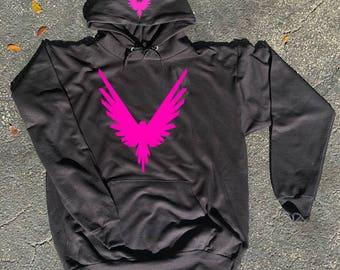 Kids size Neon Pink Maverick Bird Front/hood hoodie  Unisex  Team 10 Jake Paul JP hoodie best price Inspired by Logan