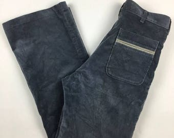 Mens navy bootcut cords