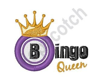 Bingo Queen - Machine Embroidery Design