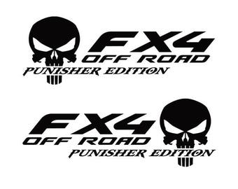 Ford F 150 Stickers FX4 Off Road Truck f150 The Punisher 2 Decals Vinyl Decal f 250 AF