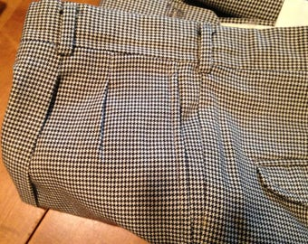 Classic Hounds Tooth Check Trousers - Small - 30-32 Waist- small
