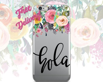 FREE SHIPPING Hola Phone Case iPhone 7/7+/6/6S/6+/6S+65/SE, Galaxy S8/8+/7/7Edge/6/6Edge/5/Note5/J7Prime, Huawei P8/8PLite2016/P9/P9Lite