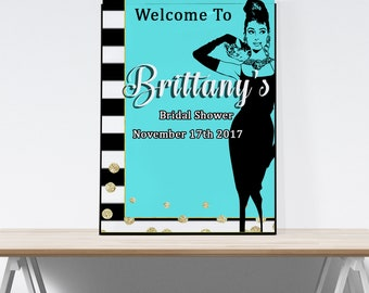 Breakfast at Tiffanys Party Decorations, Bridal Shower, Baby Shower, Audrey Hepburn, Birthday, Bachelorette Party, Wedding Sign, Printable