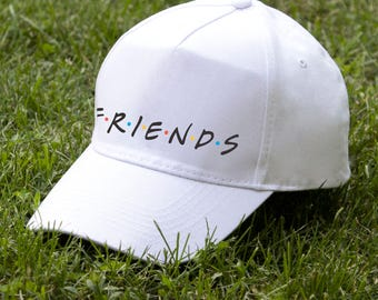 Friends TV Show Gift For Friend Baseball Cap Friends Logo Embroidery Cap Friends Show Baseball Hat Friends Gift For Her All Size's Cap PC031