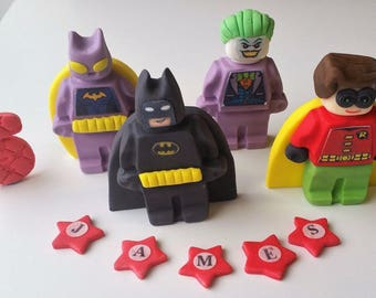batman cake toppers edible  personalised decoration
