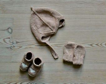 Hand Knit Baby Accessories Set | Beach