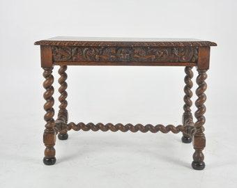 Antique Writing Table, Antique Oak Desk, Victorian, Scotland 1870, B1050