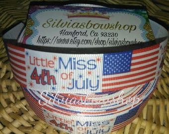 Little Miss 4th of July Ribbon