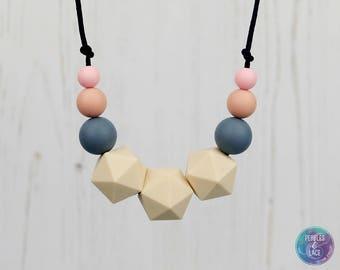 Teething Necklace, Mum Beads, Nursing Necklace, Teething Jewellery, Breastfeeding Necklace, Geometric Necklace, Mama Necklace, Mother Gift