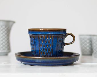 Maria Philippi for Søholm - Tea or Coffe Duo - Blue Granite - No. 1830 - 1960s - Danish Midcentury