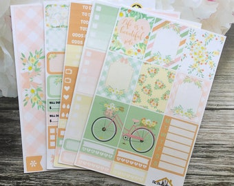 "Summer Planner Sticker Kit / ""Enjoy the Journey"" Weekly Kit / EC Vertical / Summer / A La Carte"