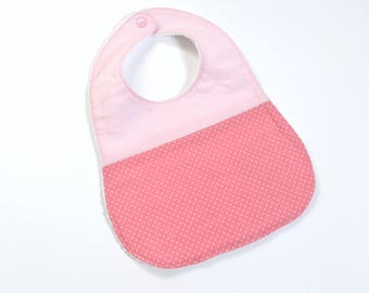 Terry baby bib and pink print
