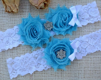 Aqua Wedding Garter, Blue Garter Set, Blue Bridal Clothing, Somethig Blue, Wedding Garter Blue, Bridal, Lace Garter Blue, Blue Keep Garter