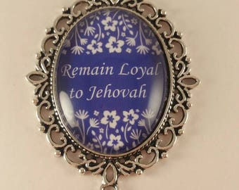 Remain Loyal to Jehovah JW Convention badge card holder with magnetic attachment, JW.org, JW gifts, Jw items, baptism gift