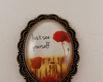 """JW magnetic brooch, """"Just see yourself"""", Jw gifts, jw items, jw accessories, pioneer gift."""