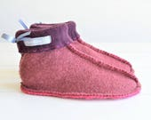 Handmade Womens Slippers Recycled Wool Sweater Slipper Boots Ethical Gift One of a Kind Natural Fibres UK  45 US  67
