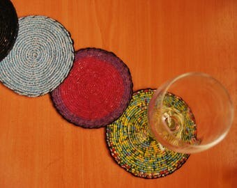 Decorative coasters beads colors